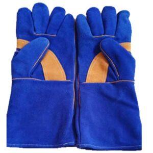 Welder's gloves Blue